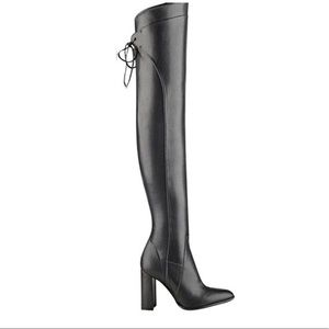 Marc Fisher Vegan Leather Thigh High Boots